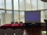 Rental Epson Short Throw Projector + JK 100″ Portable Screen